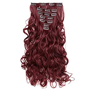 Beauty Shopping OneDor 20″ Curly Full Head Clip in Synthetic Hair Extensions