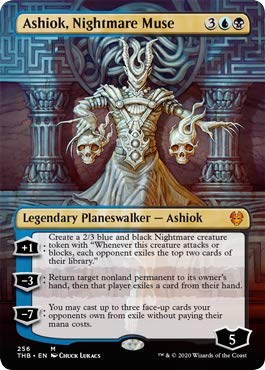 Magic: The Gathering - Ashiok, Nightmare Muse - Borderless - Theros Beyond Death