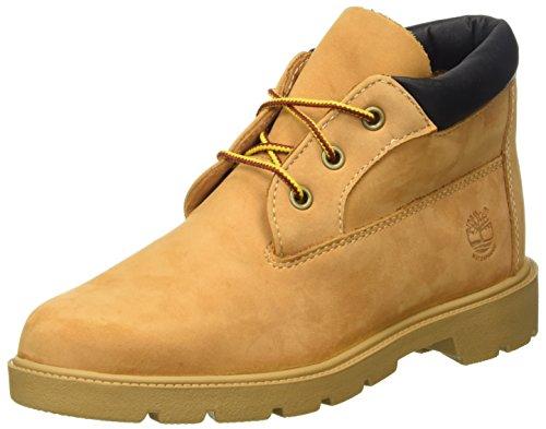 Timberland Timberland Unisex-Kinder Wasserdicht Chukka Klassische Stiefel, Gelb (Wheat), EU 40