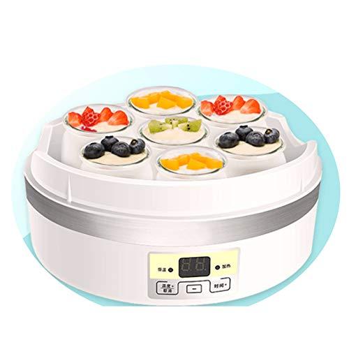 LDSB Máquina de Yogur eléctrica - Yogurtera con Termostato Ajustable y Temporizador, Panel de Control y Autoapagado - Máquina para Hacer Yogur Natural y Casero,2000ml