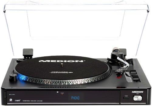 Medion LIFE E69080 USB Plattenspieler (MP3-Player, Kartenslot)