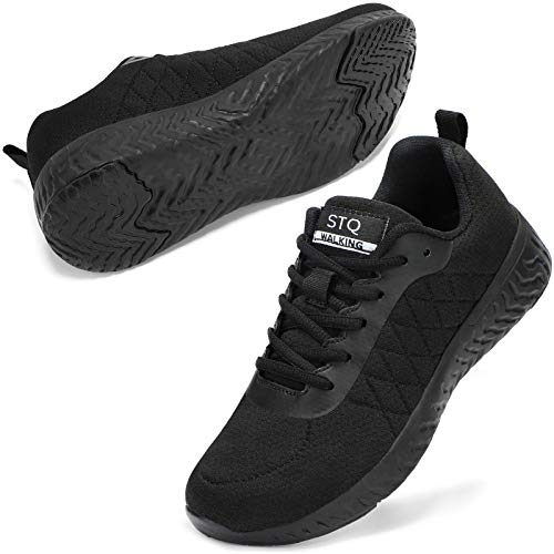 STQ Walking Shoes for Women Lace Up Lightweight Tennis Shoes