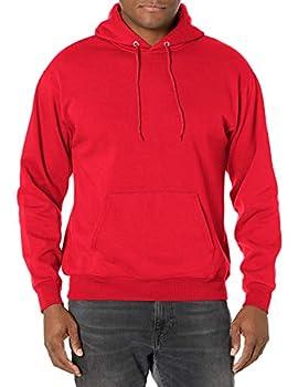 Hanes Men s Pullover EcoSmart Hooded Sweatshirt Deep Red X-Large