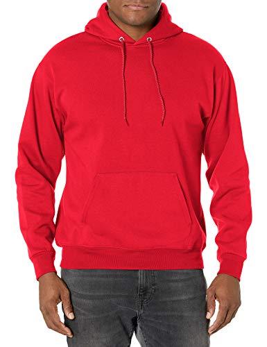 Hanes mens Pullover Ecosmart Fleece Hooded Sweatshirt,Deep Red,Small