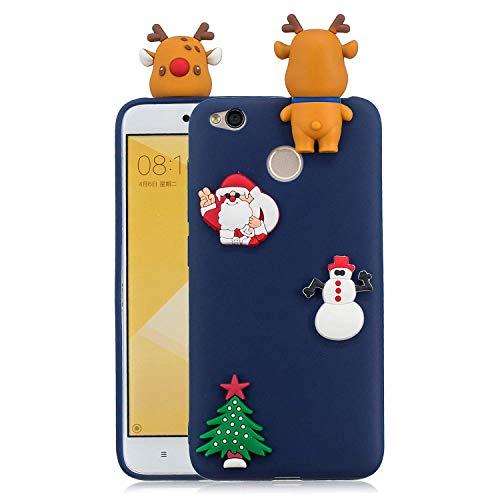 LAXIN Christmas Tree Case for Xiaomi Redmi 4,Cute 3D Cartoon Cover,Kids Girls Soft Cool Silicone Gel Rubber Kawaii Character Fashion Unique Fun Shockproof Protector Shell for Xiaomi Redmi 4X
