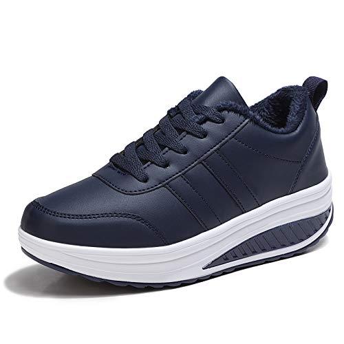Zapatos Deporte Mujer Nieve Zapatillas de Deportivos Zapatos para Caminar Gimnasia Ligero...