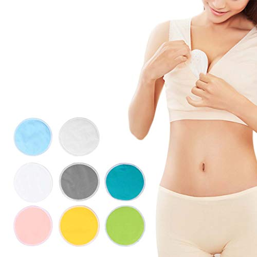 Frcolor 16pcs coussinets d'allaitement réutilisables coussins d'alimentation étanches pad de protection respiratoire éponges cosmétiques inserts de soutien ultra absorbant