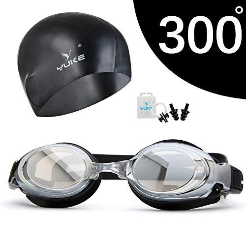 jsauwi Zwembril Zwembril Volwassene Zwembril HD waterdichte graad bijziendheid badmuts set