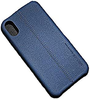 USAMS Protective Leather Case Cover For iPhone   7 , 8 ,Dark Blue