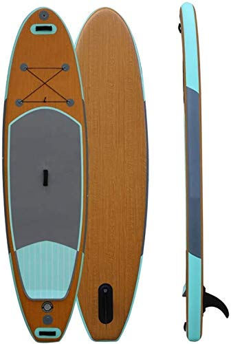 Woodtree Grano de Madera de la Tarjeta de Paleta de pie for Adultos Tabla de Surf Tablas de Surf esquí acuático Inflable Paddle Board Paddle Board 305X76X15CM