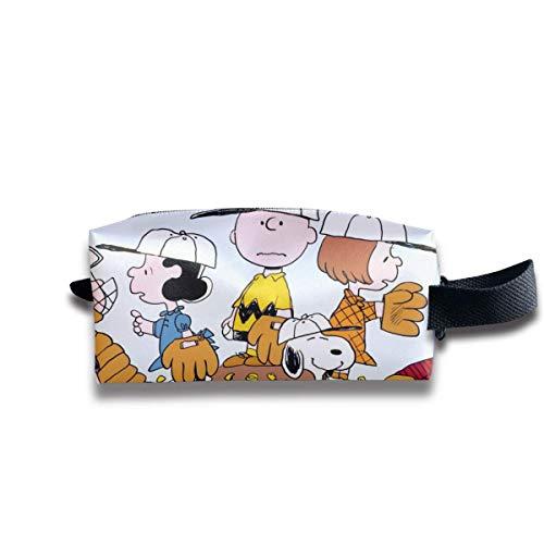 Neceser de viaje Snoopy con amigos organizadores de maquillaje y almacenamiento para...