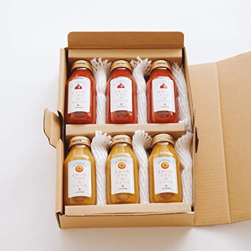 LYCOPER(リコペル)『おもいろトマトとそがいろトマトのトマトジュースセット180ml×6本』