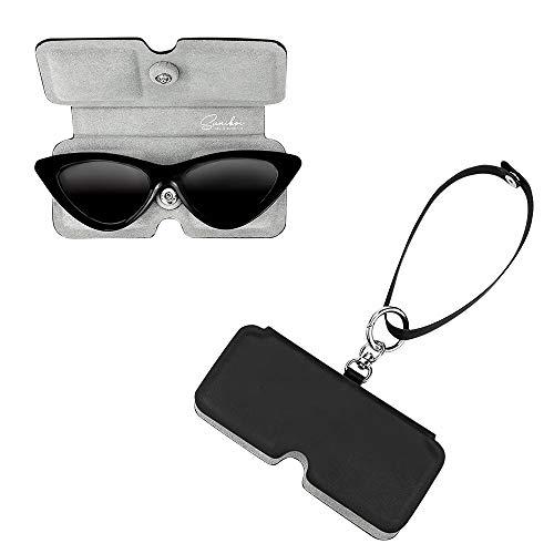 suniboi Brillenetui für Brillen & Sonnenbrillen - Softcase zum Anhängen an die Tasche oder Gürtel - Brillentasche für Damen und Herren - Lesebrillen Etui