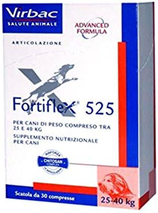 Integratore per cane articolazione  fortiflex 525 mg - protegge le cartilagini articolari del cane - virbac B01INZAI28