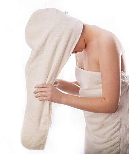 Aspen5 Huge Cotton Hair Towel Wrap for Women (Coral White)