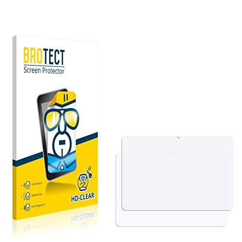 BROTECT Schutzfolie kompatibel mit TrekStor SurfTab Breeze 10.1 Plus (2 Stück) klare Bildschirmschutz-Folie