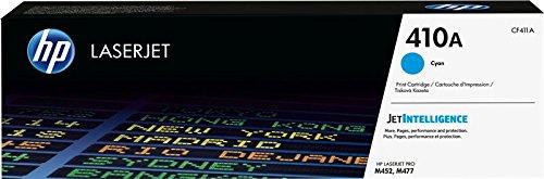 HP 410 CF411A Cartuccia Toner Originale per Stampanti Laserjet Pro della Serie M300, M450 e M470, JetIntelligence, Ciano