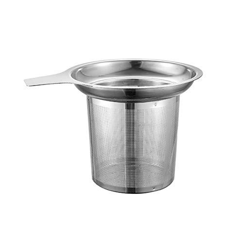 Juego de te de acero inoxidable pulido filtro de te para especias y condimentos, plata