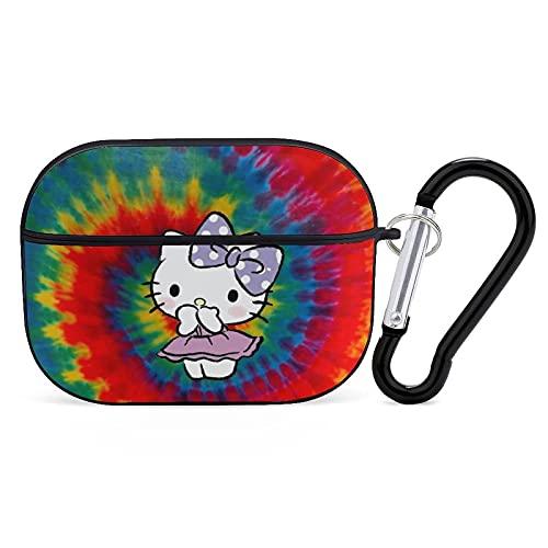 Compatible con Airpods Pro Case, Hello Kitty portátil Apple AirPods 3, funda protectora a prueba de golpes, para accesorios para fundas de carga de Apple con llavero