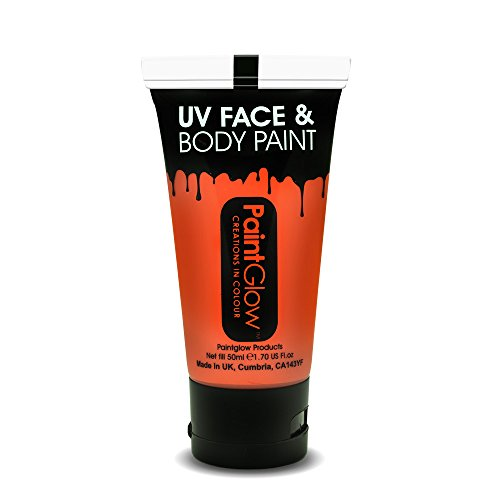 Smiffys - SM46009 - Peinture UV Corps et Visage 50 ml Orange Taille Unique