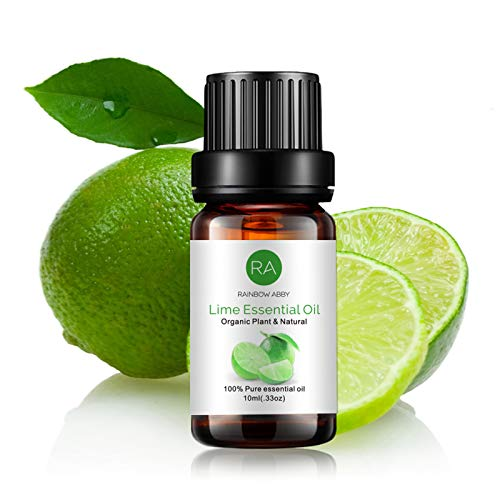 Lime Essential Oil, 100% Pure Organic Natural Aromatherapy Lime Oil for Diffuser, Massage, Yoga, Meditation, Bath, Skin Care (10ml)