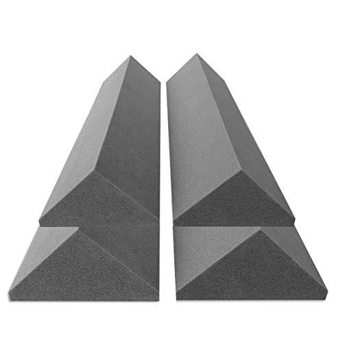4 Bass-Trap Absorberelemente, 100cm hoch, Eckabsorber Breitbandabsorber, Akustikschaumstoff