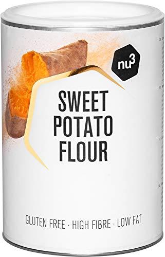 Harina de batata   500 g de patata dulce molida – Baja en hidratos – Ideal en dietas paleo y sin gluten   Rica en fibra y baja en grasa   Origen 100 % natural   Alternativa para cocinar y hornear