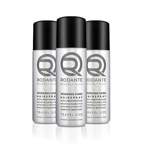 Rodante Beverly Hills Fine Thin Hairspray   Humidity Resistant Fast Drying Natural Vitamin B5 Low Alcohol   Men & Women 3 of Pack