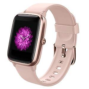Smartwatch Damen, GRDE Bluetooth Smart Watch 1.3 Zoll Voll Touchscreen Fitness Tracker IP68 Wasserdicht mit Pulsuhr Schrittzähler Schlafmonitor Stoppuhr Damen Herren Sportuhr für iOS Android