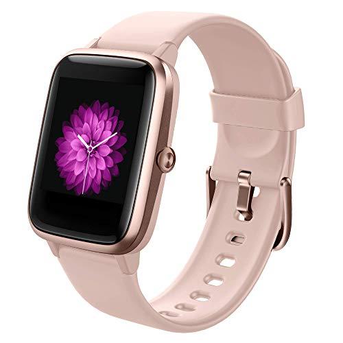 GRDE Smartwatch Damen, Bluetooth Smart Watch 1.3 Zoll Voll Touchscreen Fitness Tracker IP68 Wasserdicht mit Pulsuhr Schrittzähler Schlafmonitor Stoppuhr Damen Herren Sportuhr für iOS Android