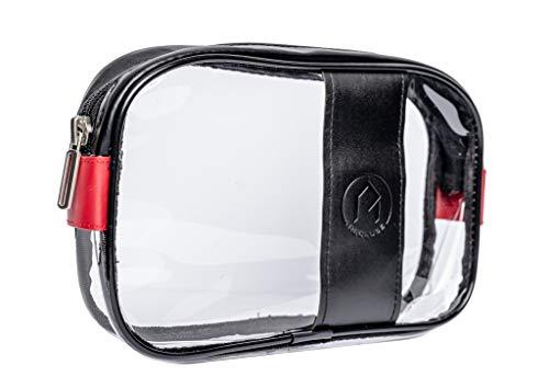 Kulturbeutel Transparent 1 Liter RECLUSE, Handgepäck Flüssigkeiten, Kulturtasche durchsichtig, Waschbeutel,