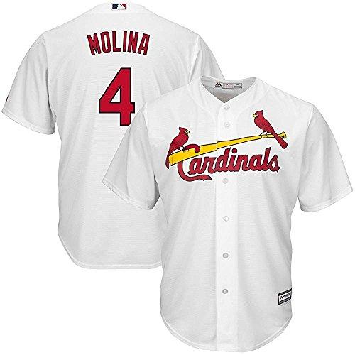 Majestic Yadier Molina St. Louis Cardinals MLB Kids White Home Cool Base Replica Jersey (Kids 7)