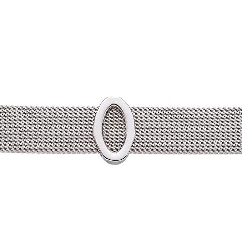Good.Designs ® Damen Armband (Meshband) Frauen Armschmuck mit Charms Anhänger (Silber) Buchstabe O Olga Olivia Olaf Ole Oliver Oskar Otto