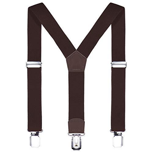 DonDon Kinder Hosenträger 2 cm schmal längenverstellbar für eine Körpergröße von 80 cm bis 110 cm bzw. 1-5 Jahre Braun