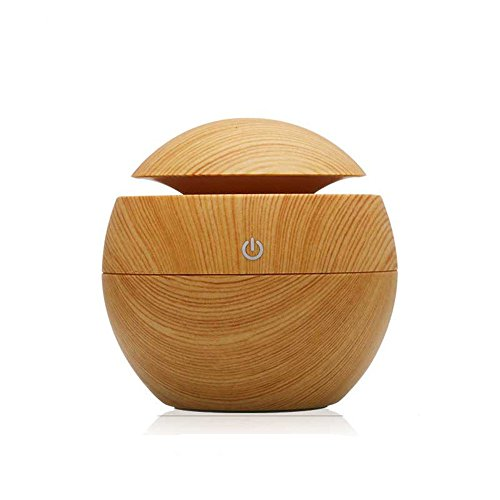 Purchase onedayday Mini USB 130ml Wooden Air Aroma Humidifier, Ultrasonic Grain - Aromatherapy Mini ...