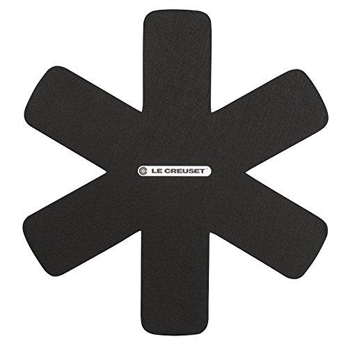 Le Creuset Pfannenschutz, Set aus 3 Stück, Für alle Arten von Pfannen und Töpfen, Schwarz