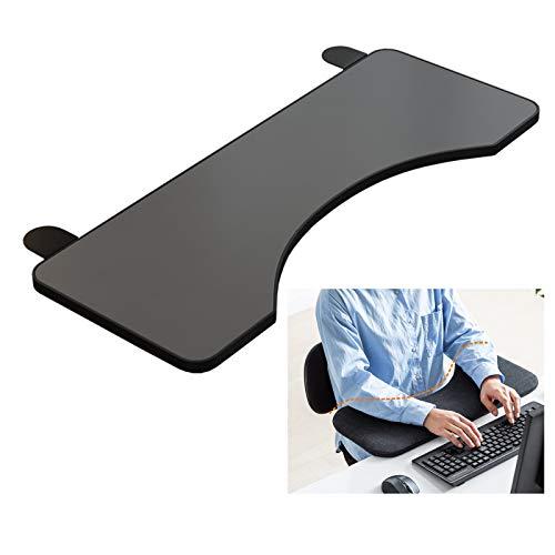 YYQ SHOP 65x25cm Plegable Bandeja paraTeclado Beige Ajustable Reposabrazos Soporte Resistente Extensor De Escritorio Reposamuñecas para Mesa de Escritorio Blanco/Negro