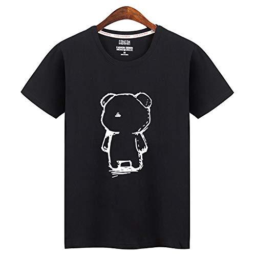 Camiseta de manga corta para hombre, diseño de marea Oso Negro XXL