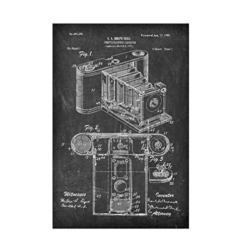 artboxONE-Puzzle S (112 Teile) Film Retro Kamera Patent II (Tafel) - Puzzle antike fotoapparat Blaupause Foto