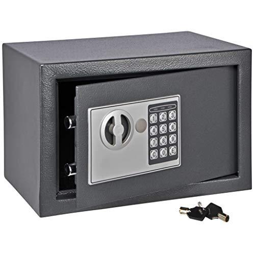 Haushalt International  Safe mit Elektronik Zahlenschloß und Schlüssel Tresor schwarz 31 x 20 x 20 cm