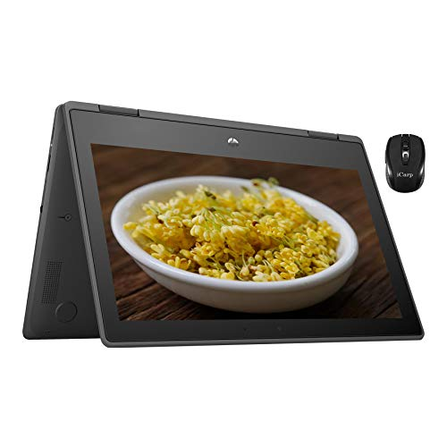Flagship HP Chromebook x360 11 G3 EE 2 in 1 Laptop 11.6' Diagonal HD IPS Touchscreen Display Intel Celeron N4020 Processor 4GB RAM 32GB eMMC USB-C Wifi5 Webcam Chrome OS + iCarp Wireless Mouse