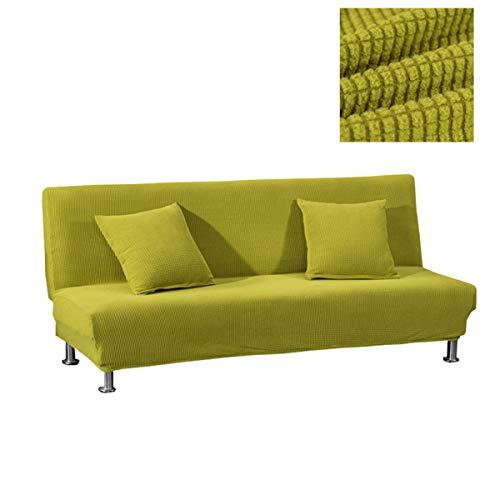 WINS Sofabezug ohne armlehnen 2 sitzer Stretch Abdeckung Husse für Sofabett Armless Sofaüberzug Sofahusse Ohne Armlehne