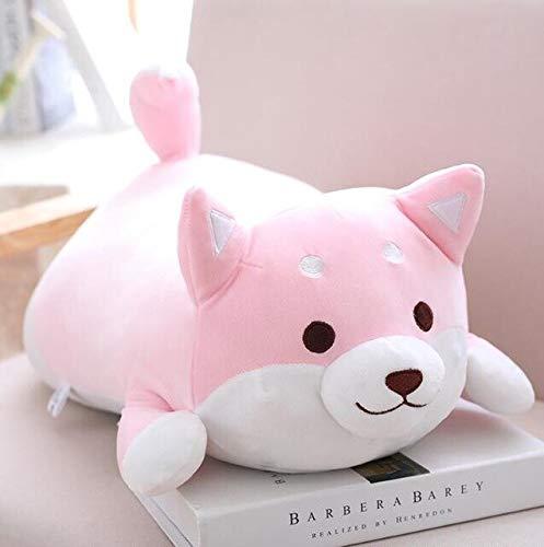 AYQX 36cm Kawaii Fat Shiba Inu Perro de Peluche de Juguete de Peluche Suave Animal de Dibujos Animados Almohada niños bebé niños pinkopeneyes