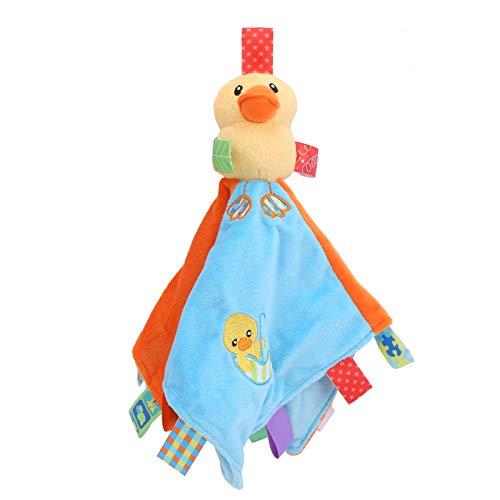 Ladieshow Baby Sicherheitsdecke Plüsch Baby Beruhigende Decken Rasseln Kuscheltier Tröster Spielzeug Stoff Vlies(als Show)