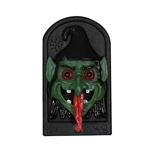LQH Luz del crneo de Halloween Calabaza Bruja Malvada Timbre de la Puerta Timbre de la Puerta LED Ojo Sano Puntales (Size : C)