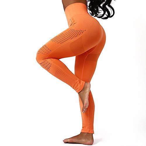 Metermall Fashion For Woman Seamless High Waist Yoga Pants Mesh Slim Fitness Sport Leggings Trousers