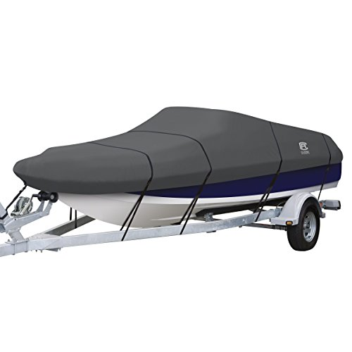 Classic Accessories StormPro Waterproof Heavy-Duty Deck Boat Cover, Fits boats 22 ft - 24 ft long x 116 in wide