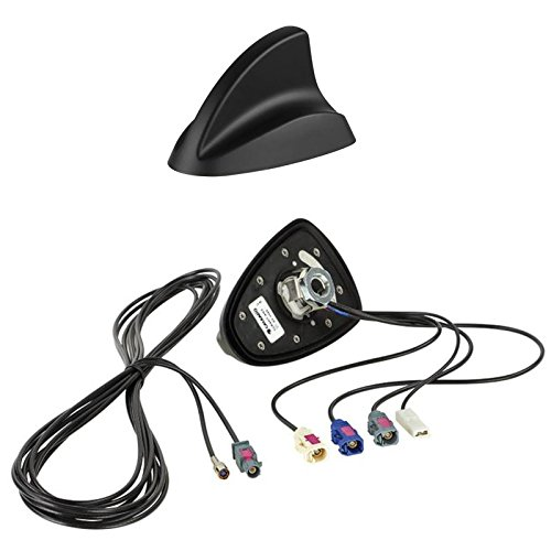 Shark II Radioantenne Radio Antenne AM / FM / DAB+ / GPS auf Fakra (f) Stecker - Einbauort -Dach hinten