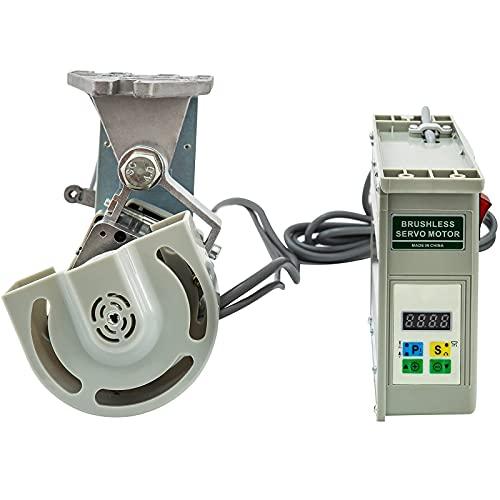 VEVOR Motor de Embrague Industrial de La Máquina de Coser 220V 550W Servo Motor de Ahorro de Energía sin Escobilla Máquina de Coser Industrial Velocidad Máx. 4500RPM Energía Silencioso y Sensible
