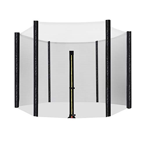Songmics Veiligheidsnet voor trampoline, vervangend net Ø 244 voor 6 stangen, Ø 305, 366 cm voor 8 stangen, rond beschermingsnet voor tuintrampoline